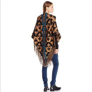 Pendleton Wool Aztec Blanket Wrap Shawl Poncho